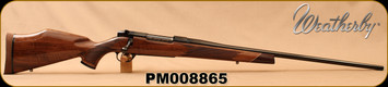 """Weatherby - 6.5-300WbyMag - Mark V Deluxe - AA fancy grade Claro walnut Monte Carlo stock w/rosewood caps & Maplewood spacers/High Lustre Blued, 26""""Barrel, LXX Trigger, Mfg# MDXM653WR6O, S/N PM008865"""