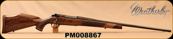 """Weatherby - 6.5-300WbyMag - Mark V Deluxe - AA fancy grade Claro walnut Monte Carlo stock w/rosewood caps & Maplewood spacers/High Lustre Blued, 26""""Barrel, LXX Trigger, Mfg# MDXM653WR6O, S/N PM008867"""