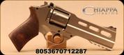 "Chiappa - 40S&W - Rhino Revolver DS - SA/DA - Medium Walnut Grips/Nickel Plated Finish, 5""Barrel, Adjustable rear sight, Fixed Fiber Optic front sight, Mfg# 340.233"