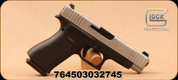 "Glock - 9mm - G48 - Semi-Auto - Black Polymer Grips/Silver nPVD coated slide, 4.17""Barrel, 2 magazines, Mfg# PA485SL701"