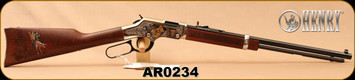 """Henry - 22S/L/LR - Golden Boy Silver American Rodeo Tribute Edition - Lever Action - American Walnut/Engraved Nickel Plated Receiver w/24K Gold Highlights, 20""""Octagonal Barrel, Mfg# H004AR, S/N AR0234"""