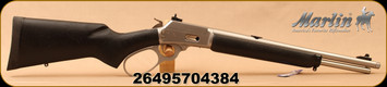 """Marlin - 357Mag/38Spl - Model 1894CST - Big Loop Lever Action - Black w/Black Web Synthetic Stock/Stainless, 16.5""""Threaded Barrel, XS Ghost Ring sights, Mfg# 70438"""