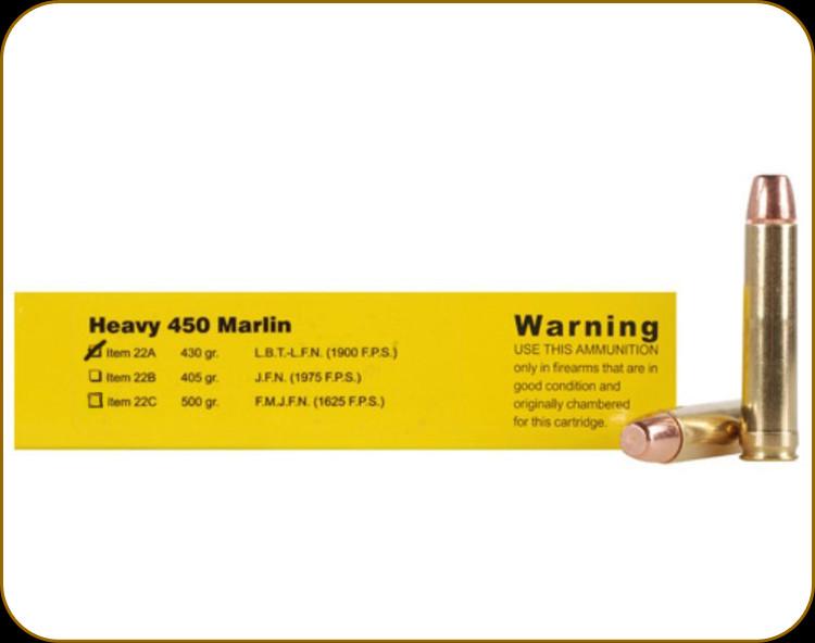 Buffalo Bore - Heavy 450 Marlin - 430 Gr - Hard Cast Lead