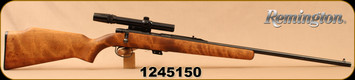 "Used - Remington - 22S/L/LR - Model 581 - Hardwood Stock/Blued, 24""Barrel, c/w Bushnell 3x-7x Custom 22 scope, Duplex reticle"