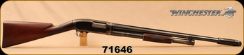 "Used - Winchester - 12Ga/26"" - Model 1912 - Pump Action Shotgun - Straight Grip Walnut Stock/Blued Barrel, Cutts Compensator, Cutts Box & 1 additional Cutts choke"