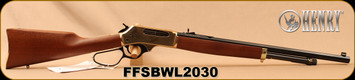 "Henry - 45-70Govt - Brass Wildlife Edition - American Walnut/Engraved brass receiver/Blued, 22"" Octagonal Barrel, 4 round capacity, Mfg# H010BWL, S/N FFSBWL2030"