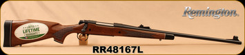 "Remington - 7mmRemMag - Model 700 BDL ""Custom Deluxe"" - Bolt Action Rifle - High Gloss Walnut Stock/Blued, 24"" Barrel, 3 Rounds, Mfg# 25803, S/N RR48167L"