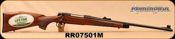 "Remington - 30-06Sprg - Model 700 BDL ""Custom Deluxe"" - Bolt Action Rifle - High Gloss Walnut Stock/Blued, 22"" Barrel, 4 Rounds, Mfg# 25793, S/N RR07501M"