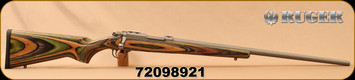 "Ruger - 17Hornet - 77/17 Varmint/Target VHZ - Green Mountain Laminate/Target Grey Stainless, 24""Barrel, 1:9""Twist, Mfg# 07212, S/N 72098921"