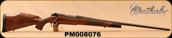 "Weatherby - 257WbyMag - Mark V Sporter - Bolt Action Rifle - Claro walnut stock/Bead Blasted Matte Blued Finish, 26""Hand-lapped chrome-moly barrel with field crown, Mfg# MSPM257WR6O, S/N PM008076"