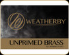 Weatherby - 30-378 Wby Mag - Unprimed Brass - 50ct
