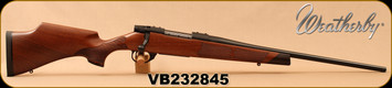 "Weatherby - 243Win - Vanguard Camilla - Satin finish, Turkish A-grade walnut w/Rosewood forend & grip caps, Fleur De Lis Checkering/Matte Blued, 20""Barrel, 5rds, Adjustable Match Quality, Two-stage Trigger, Mfg# VWR243NR0O, S/N VB232845"
