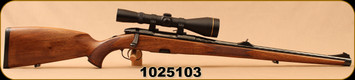 "Consign - Stery-Mannlicher - 308Win - Classic Mannlicher - Full Stock Walnut/Blued, 20.5""Barrel, c/w Leupold European-30, 3-9x50mm, #4 Reticle"