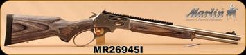 "Marlin - 45-70Govt - Model 1895SBL Trapper - Big Loop Lever Action - Grey Laminate Stock/Stainless, 18.5""Barrel, 6-shot tubular magazine, XS Sights, Scout Scope Mount, Mfg# 70478, S/N MR26945I"