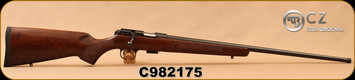 "CZ - 22LR - Model 457 American - Turkish Walnut - American Style Stock/Blued, 24.8""Threaded 1/2x20 Barrel, Detachable 5rd magazine, Integrated 11mm Dovetail, Mfg# 02310, S/N C982175"