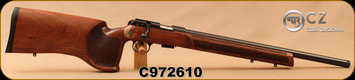 "CZ - 22LR - Model 457 Varmint MTR - Match Target Rifle - Turkish Walnut, Target Style Stock/Blued, 20.5""Threaded(1/2x20) Heavy Barrel, Integrated 11mm Dovetail, Fully Adjustable Trigger, Mfg# 02345, S/N C972610"