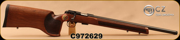 "CZ - 22LR - Model 457 Varmint MTR - Match Target Rifle - Turkish Walnut, Target Style Stock/Blued, 20.5""Threaded(1/2x20) Heavy Barrel, Integrated 11mm Dovetail, Fully Adjustable Trigger, Mfg# 02345, S/N C972629"