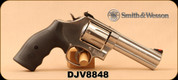 "Consign - Smith & Wesson - 357Mag - Model 686 - Black Hogue Grips/Stainless Steel, 4.25"" Barrel, 6 Round Revolver, Mfg# 164107 - In original case"