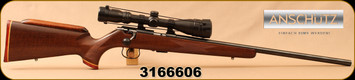 "Consign - Anschutz - 22LR - Model 1416 Classic - Custom Walnut, Maple & Bloodwood Stock, Blued, 23""Barrel, c/w Hawke Sport HD 3-9x40MM, MilDot Reticle, Talley Rings - In black hard case"