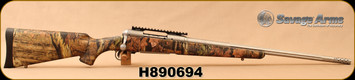 "Consign - Savage - 300WSM - Model 16 Bear Hunter - Mossy Oak Breakup Infinity Synthetic Stock/21.5""medium-contour stainless fluted barrel, Adjustable Muzzle Brake, AccuTrigger, New - Unfired, in non-original box"