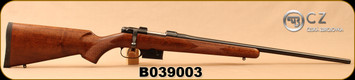 "Used - CZ - 223Rem - Model 527 American - Turkish Walnut, American-Style Stock/Blued, 21.88""Barrel, 1:9""Twist, Detachable 5rd Magazine, 16mm Dovetail, Mfg# 03019 - Only 20 rounds fired - In original box"