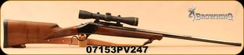 "Used - Browning - 7mmRemMag - Model 1885 - Falling Block - Single Shot - Walnut Stock/Blued, 28""Octagonal Barrel, c/w 1 pc.Talley Base, 1""Talley Rings, Leupold FX-II 4x33, Duplex Reticle"
