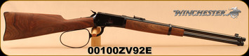 "Used - Winchester - 44RemMag - Model 1892 Large Loop Carbine - Grade I Walnut Straight Grip Stock/Blued, 20""Barrel, Marble Arms front sight, Mfg# 534190124 - Less than 100 rounds - In original box"