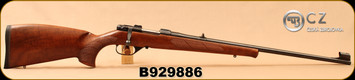 "Used - CZ - 223Rem - Model 527 Lux - Bolt Action Rifle - Turkish Walnut, Bavarian-Style Stock/Blued, 23.6""Barrel, 1:9""Twist, Single set trigger, Mfg# 03004, c/w 1""Leupold rings, 2 magazines - In non-original CZ box"