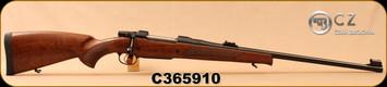 """CZ - 375H&HMag - Model 550 Magnum Lux - Select Turkish Walnut/Blued, 25""""Barrel, 3-leaf express sights, 5rd Hinged Floorplate, Single Set Trigger, 1:12""""Twist, S/N C365910"""