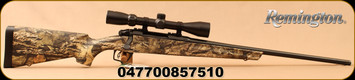 "Remington - 243Win - Model 783 Camo w/Scope - Mossy Oak Break Up Country Synthetic Stock/Matte Black, 22"" Barrel, 1:9 1/8""Twist, 4rd Detachable Mag, CrossFire trigger system, Mounted & Bore sighted 3-9x40mm Scope, Duplex Reticle, Mfg# 85751"