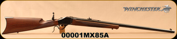 "Winchester - 45-70Govt - Model 1885 Limited Edition High Wall - Straight Grip Checkered Walnut/Gloss Blued, 28""Octagonal Barrel, Rear Tang Mounted Peep Sight, (Serial # 1) Mfg# 534098142, S/N 00001MX85A"