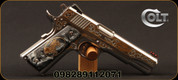 "Colt - 38Super - 1911 El Potro Rampante - SA Semi-Auto - Faux Black Pearl with Gold Flake Rampant Colt Grips/High Polished Stainless, 5""National Match Barrel, Novak Sights, Mfg# O1073CCS-EPII"