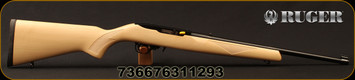"Ruger - 22LR - Model 10/22 Maple - Semi-Auto Carbine - Maple Stock/Blued, 18.5""Barrel, 10rd rotary magazine, prominent magazine release, Mfg# 31129"