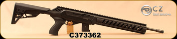 "Used - CZ - 22WMR - 512 Tactical - Matte Black ATI Tactical Chassis/ 6-Position Adjustable Stock w/adjustable comb height, 16.5""Threaded (1/2x28) Barrel, Picatinny Rail, Mfg# 02164 - Demo Model"