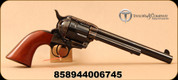 """Taylor's & Co - 45LC - Uberti - Taylor Tuned 1873 Cattleman - Single Action Revolver - Navy-size Walnut Grip/case-hardened forged steel frame/Blued, 7.5""""Barrel, Mfg# 702A"""