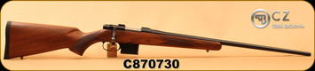 "CZ - 6.5Grendel - 527 American - Bolt Action Rifle - Turkish Walnut Stock/Blued, 24"", 5rd detachable magazine, Integrated 16mm Scope Base, Mfg# 03088, S/N C870730"