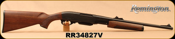 "Remington - 30-06Sprg - Model 7600 Carbine Satin - Pump Action Rifle - Monte Carlo Walnut Stock/Blued 18.5""Barrel, 4 Rounds, Iron Sights, Mfg# 24661"