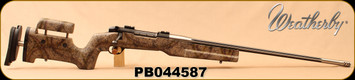 "Consign - Weatherby - 30-378WbyMag - Mark V Accumark RC - High Desert Camo w/black spiderweb accents Bell&Carlson Long Range Stock/Stainless, Fluted, Threaded 26""Barrel, c/w Grey w/Black Web Hunting Stock, 3-Port Muzzle Brake"