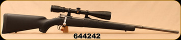"Consign - Husqvarna - 6.5x55AI - Black Synthetic/Blued, 22.5""Barrel, upgraded trigger, c/w Bushnell Legend 4-12x40 scope, duplex reticle"