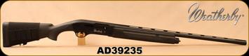 "Consign - Weatherby - 12Ga/3""/28"" - Model SA-08 - Semi-Auto Shotgun - Black Synthetic/Blued, c/w 3 chokes (IC, IM, Full) - in black hard plastic case"