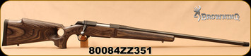 "Used - Browning - 22-250Rem - A-Bolt M-1000 Eclipse - Satin Finish Laminated Gray Thumbhole grip Stock w/Monte Carlo cheekpiece/Satin Blued, 26""Threaded Barrel, c/w Leupold 1""rings and bases - very low  rounds"