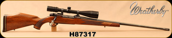 "Consign - Weatherby - 300WbyMag - Mark V - Walnut/Blued, 26""Pac-Nor Barrel, muzzle brake, c/w Bushnell Elite, 4-16x40 Scope, Duplex reticle - Only 200 rounds fired"