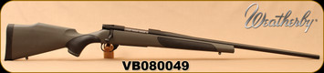 """Consign - Weatherby - 240WbyMag - Vanguard Synthetic - Bolt Action Rifle - Synthetic Stock/Matte Blued Finish, 24""""Barrel, Mfg# VGT240WR4O - Unfired - in original box"""