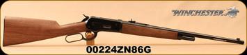 "Winchester - 45-70Govt - Model 1886 Extra Light - Lever Action - Straight Grip Grade A Black Walnut Stock/Gloss Blued, 22""Barrel, Marble Arms gold bead front sight, Buckhorn rear sight, Mfg# 534053142, S/N 00224ZN86G"