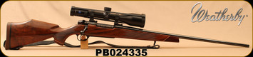 """Consign - Weatherby - 270WbyMag - Mark V Deluxe - AA Grade Claro Walnut Monte Carlo Stock w/Rosewood forend & Grip Cap/High Lustre Blued, 26"""" #2 Contour Barrel, 1:10"""" c/w Zeiss Victory HT 3-12x56mm, Duplex reticle"""