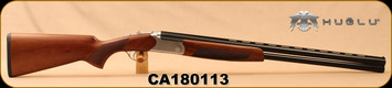 "Huglu - 12Ga/3""/28"" - Hawk - O/U - Turkish Walnut/Blued Barrels/Silver Receiver, mobile choke, Single Selective Trigger, SKU# 8681715390635, S/N CA180113"