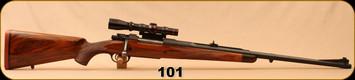 "Consign - Fred Wells - 350 Wells Express - Fred Wells Custom - High Grade Walnut Stock/Matte Blued, 26.5""Barrel, 15.5""LOP - Made for Baron Von Maffei - c/w Leupold 1x4 Vari-X II, Duplex Reticle"