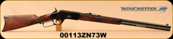 """Winchester - 44-40Win - Model 1873 Deluxe Sporter - Lever Action Rifle - Grade III Walnut/Polished Blued, 24 1/4""""Half Octagon/Half Round Barrel, Button Rifled, Crescent Butt Plate, Mfg# 534274140, S/N 00113ZN73W"""