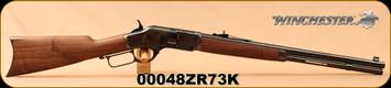 "Winchester - 44-40Win - 1873 Short - Lever Action - Grade 3 Walnut/Case Hardened Receiver /Blued, 20"" 10rds, Mfg# 534202140, S/N 00048ZR73K"