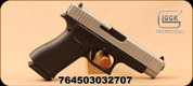 "Glock - 9mm - G48 Silver Slide - Semi-Auto Pistol - Black Polymer Frame/Silver nPVD Finish, 4.17""Barrel, Fixed Glock Night Sights, (2)10rd magazines, Mfg# PA485SL201"